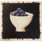 "Affiche ""Blueberries and porcelain"""