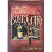 "Affichette ""Bourgogne wine shop"""