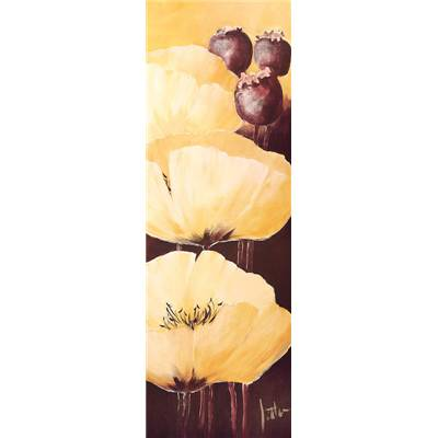 Affiche Yellow Poppies IV