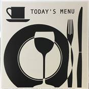 "Affichette ""Today's menu"""
