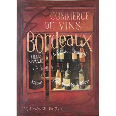 "Affichette ""Bordeaux wine shop"""