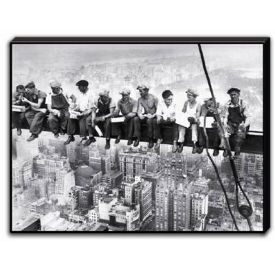 "Tableau laqué ""Eating above Manhattan"""