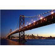 Poster XXL - San Francisco Skyline and Bay Bridge at Sunset
