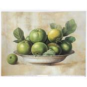 "Affichette ""Green apples in bowl"""