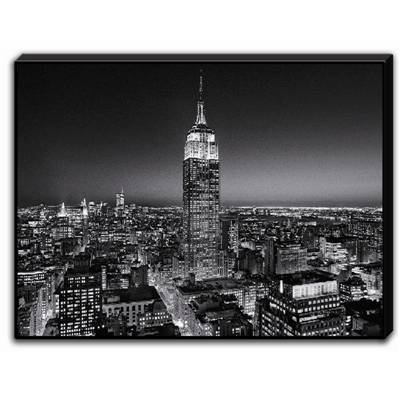 "Tableau laqué ""Empire State Building at night"""