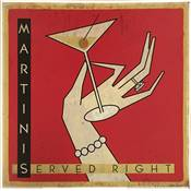 "Affiche ""Martinis served"""
