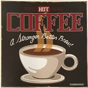 Affichette Strong Coffee